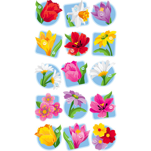 EK Success - Sticko Classic Stickers - Floral Seals