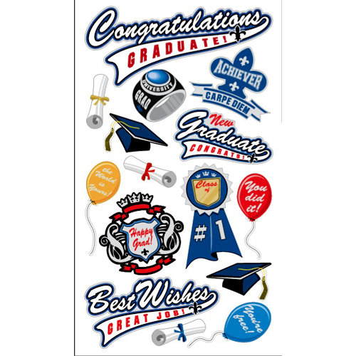 EK Success - Sticko Graduation Collection - Stickers - Congratulations Grad