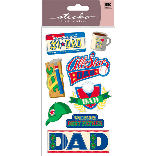 EK Success - Sticko Classic Collection - Stickers - I Love You Dad
