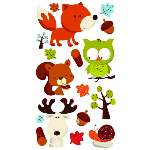 EK Success - Sticko Classic 58 Stickers - Forest Friends