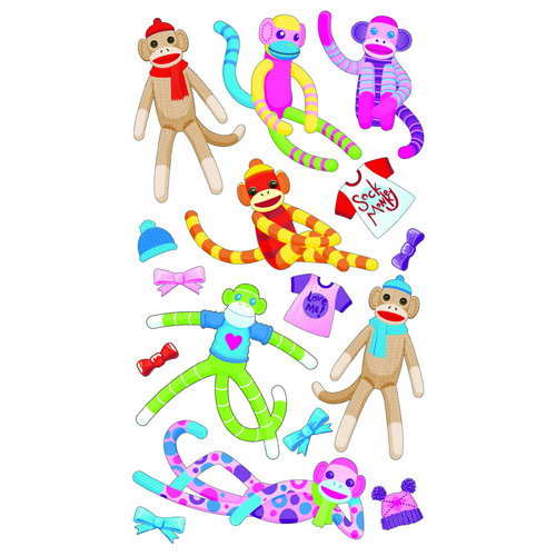 EK Success - Sticko Classic 58 Stickers - Sock Monkey