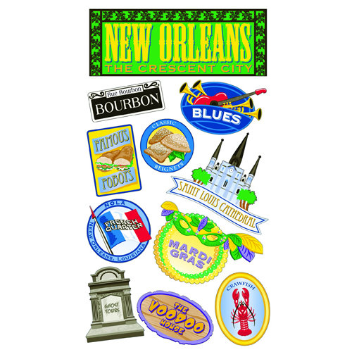 EK Success - Sticko Classic 58 Stickers - New Orleans