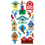 EK Success - Sticko Classic Collection - Stickers - Birds and Bird Houses, CLEARANCE