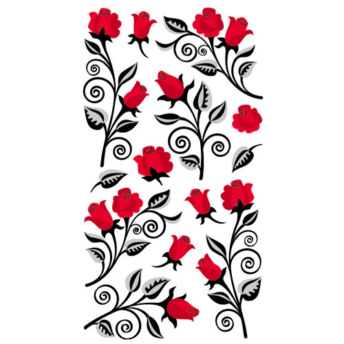 EK Success - Sticko Classic Collection - Stickers - Beautiful Roses