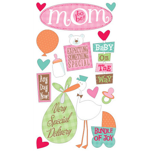 EK Success - Sticko Classic Collection - Stickers - Mom to Be