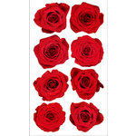 EK Success - Sticko Photo Flowers Collection - Stickers - Red Roses