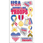 EK Success - Sticko Patriotic Collection - Stickers - Support Our Troops