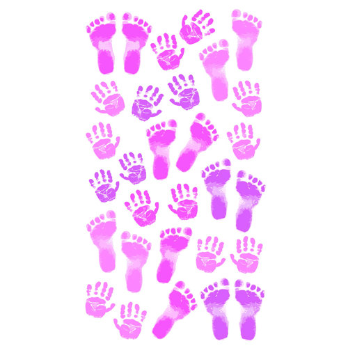 EK Success - Sticko Classic 58 Stickers - Pastel Baby Girl Prints