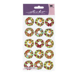 EK Success - Sticko Holiday Stickers - Christmas - Holiday Wreaths