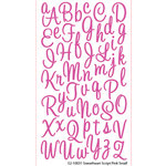 EK Success - Sticko Alphas Stickers - Glitter - Small - Sweetheart Script - Pink