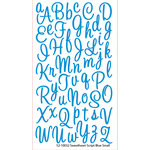 EK Success - Sticko Alphas Stickers - Glitter - Small - Sweetheart Script - Blue