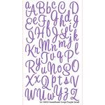 EK Success - Sticko Alphas Stickers - Glitter - Small - Sweetheart Script - Purple