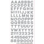 EK Success - Sticko Alphas Stickers - Metallic - Funhouse - Silver