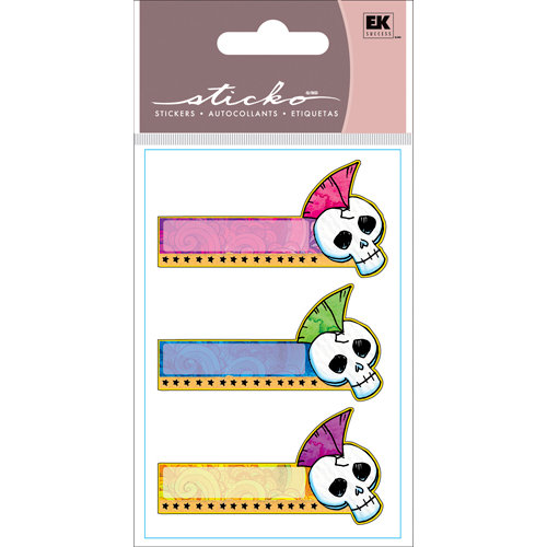 EK Success - Sticko Functionality - Stickers - Sticky Notes - Punk Skull