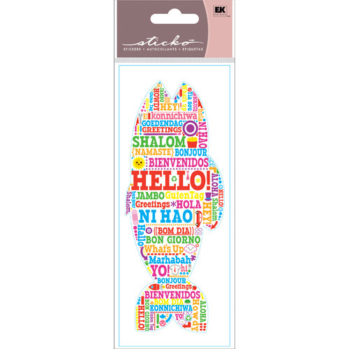 EK Success - Sticko Functionality - Stickers - Hello Fish