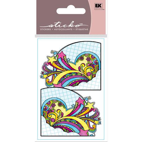 EK Success - Sticko Functionality - Stickers - Corner Pockets - Rainbow