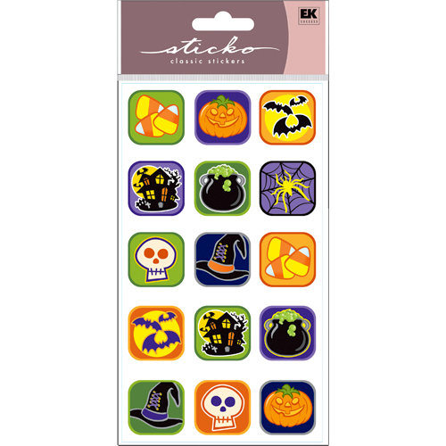 EK Success - Sticko Classic Stickers - Halloween - Halloween Buttons