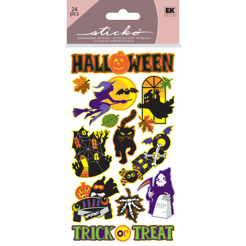 EK Success - Sticko Classic Stickers - Halloween - Spooky Halloween