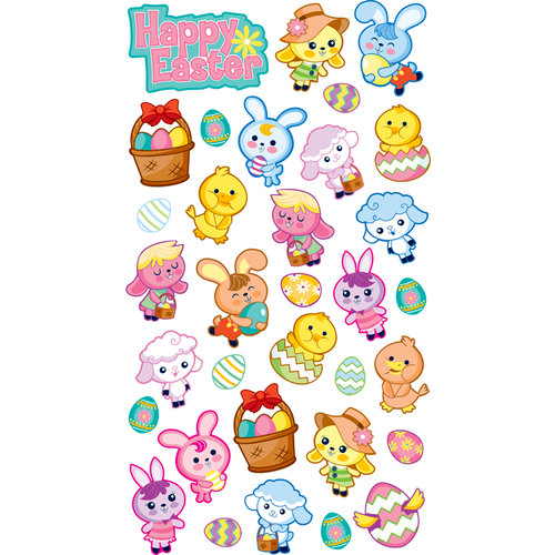 EK Success - Sticko Sparkler Stickers - Easter Friends
