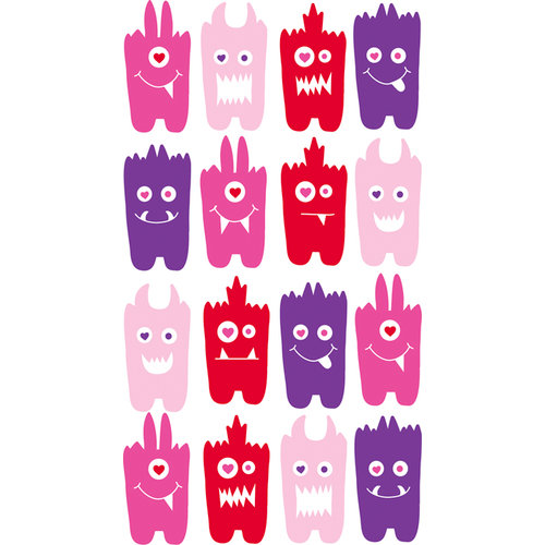 EK Success - Sticko Sparkler Stickers - Love Monsters