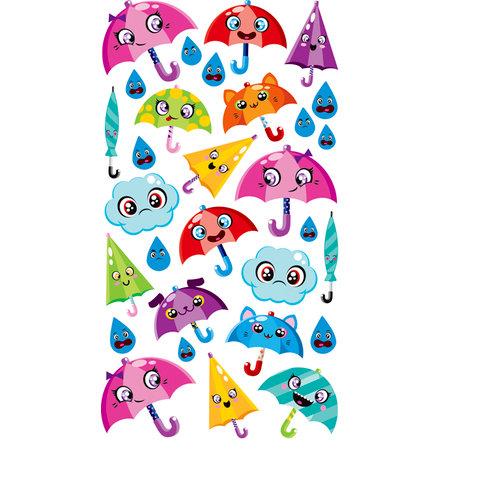 EK Success - Sticko Sparkler Stickers - Umbrella Friends