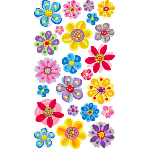 EK Success - Sticko Sparkler Stickers - Vladis Flowers