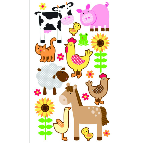 EK Success - Sticko Sparkler Stickers - Farm Animals