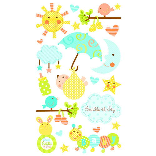 EK Success - Sticko Sparkler Stickers - Bundle of Joy