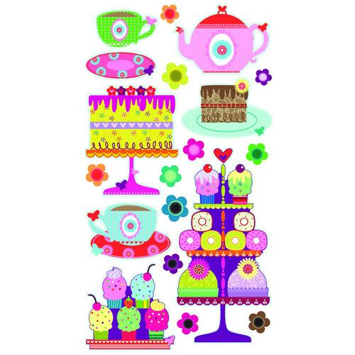 EK Success - Sticko Sparkler Stickers - Tea Party