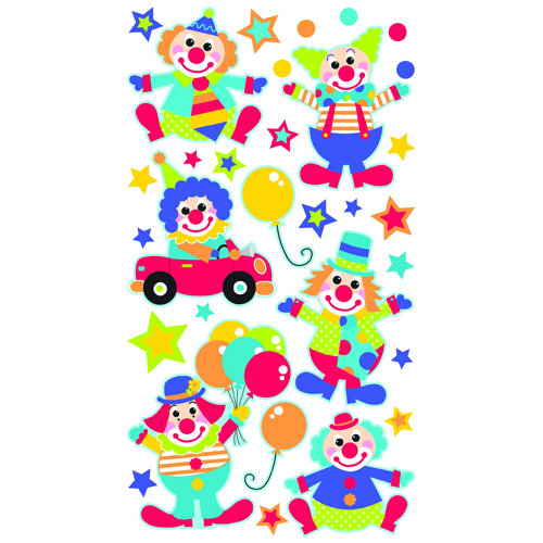 EK Success - Sticko Sparkler Stickers - Clowns