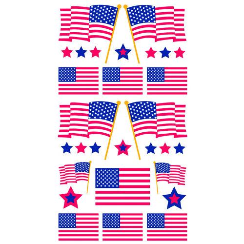 EK Success - Sticko Sparkler Stickers - Flag Day