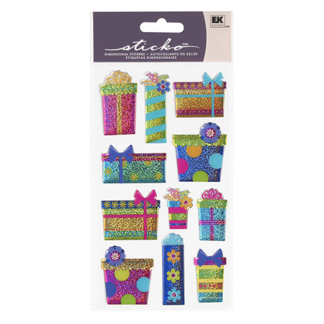 EK Success - Sticko Sparkler Stickers - Colorful Gifts