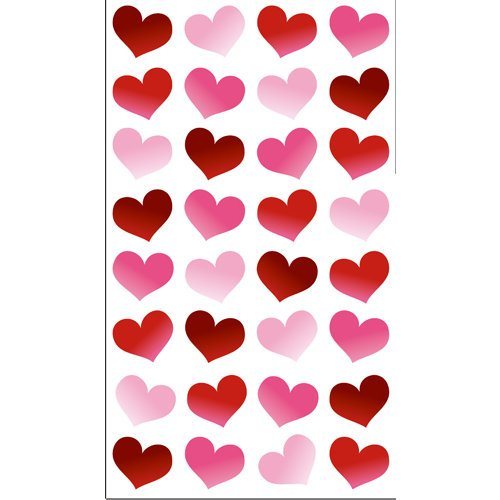 EK Success - Sticko Classic Collection - Epoxy Stickers - Red Bubble Hearts