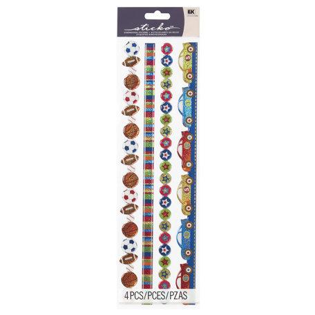 EK Success - Sticko Sparkler Stickers - Borders - Boy