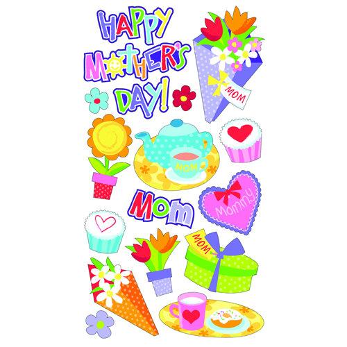EK Success - Sticko Sparkler Stickers - Mother's Day