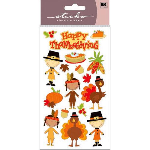 EK Success - Sticko Sparkler Stickers - Happy Thanksgiving