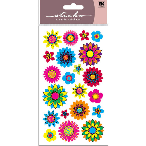 EK Success - Sticko Sparkler Stickers - Summer Floral Mix