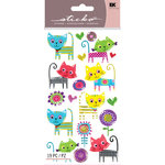 EK Success - Sticko Sparkler Stickers - Patterned Kitties