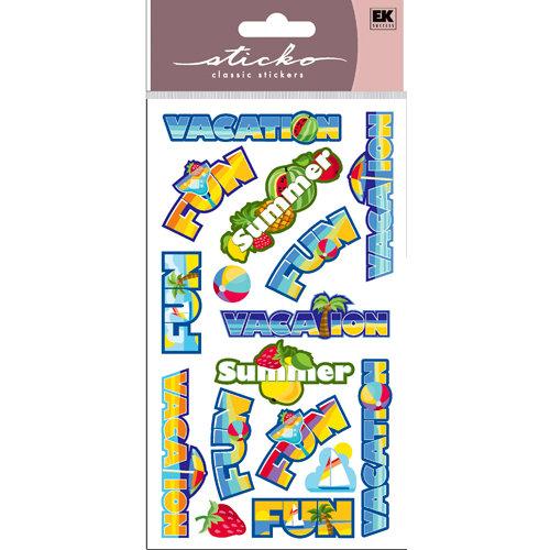 EK Success - Sticko Sparkler Stickers - Vacation Words