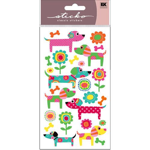 EK Success - Sticko Sparkler Stickers - Patterned Puppies