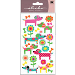 EK Success - Sticko Sparkler Stickers - Patterned Puppies