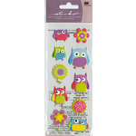 EK Success - Sticko Puffy Stickers - Flower Owl