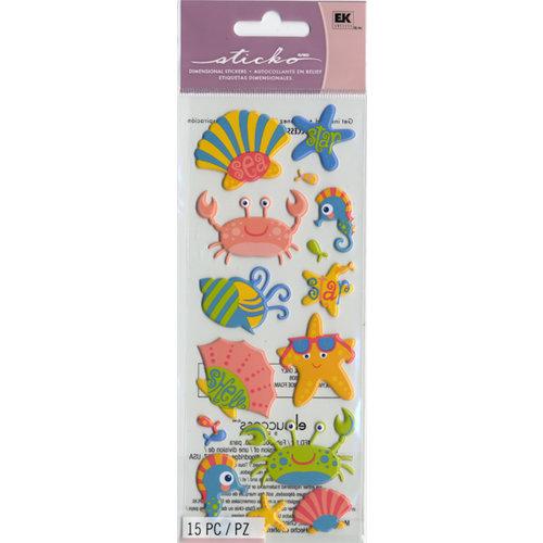 EK Success - Sticko Puffy Stickers - Seashell Star