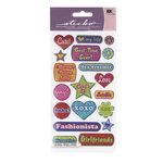 EK Success - Sticko Sparkler Stickers - Polka Dot Phrases