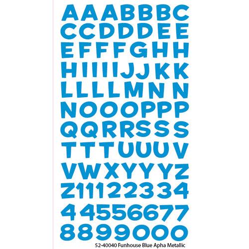 EK Success - Sticko Alphas Stickers - Metallic - Funhouse - Blue