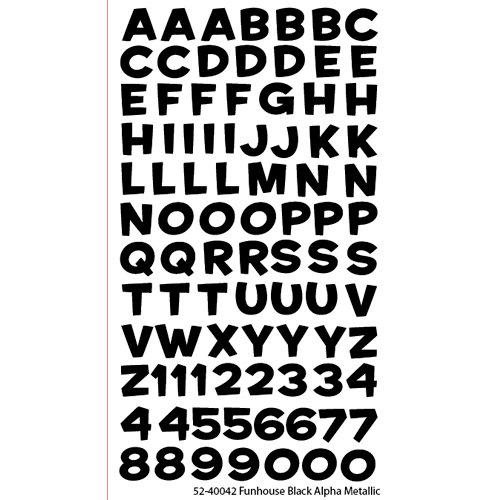 EK Success - Sticko Alphas Stickers - Metallic - Funhouse - Black