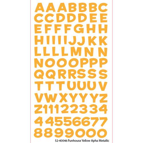EK Success - Sticko Alphas Stickers - Metallic - Funhouse - Yellow