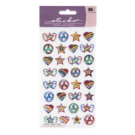 EK Success - Sticko Sparkler Stickers - Tween Symbols