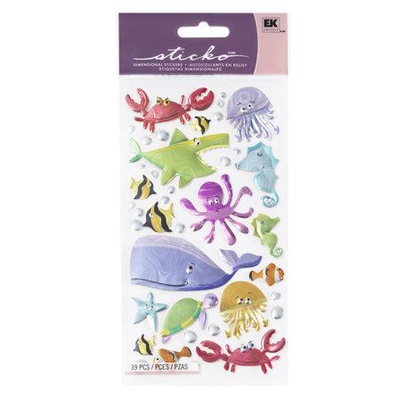 EK Success - Sticko Sparkler Stickers - Under the Sea