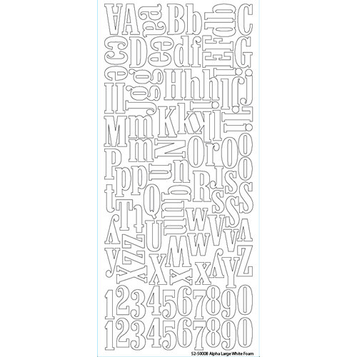 EK Success - Sticko Alphas Stickers - Foam - Large - White
